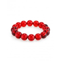 """Bracelet made from freshwater Colombian amber """"Ruby Ball"""""""