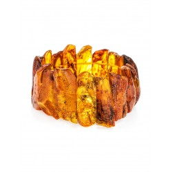 """Bracelet made of natural raw Baltic amber """"Pompeii"""""""