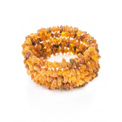 """Bracelet made of natural unpolished amber on a string 5 revolutions """"Therapy"""""""