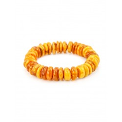 "Bracelet made of natural mottled amber with aging effect ""Washers average"""