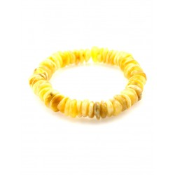"""Bracelet made of natural Baltic amber solid """"The puck honey"""""""