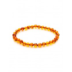 """Bracelet made of natural solid amber """"German woman"""" ( """"crumpled ball"""")"""
