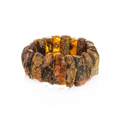 """Bracelet made of natural solid amber """"Pompeii"""" with the therapeutic effect"""
