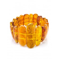"""Bracelet made of natural amber piece with a natural rind """"double-sided original"""""""