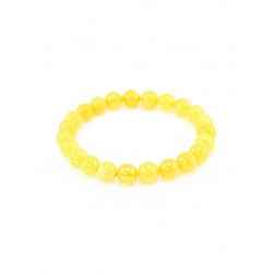 """Bracelet made of natural solid amber """"honey Bowl mat with a translucent"""""""