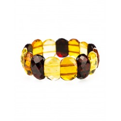 "Bracelet natural amber ""Colorful transparent verge"""