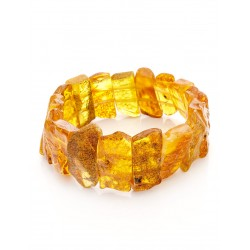 """Bracelet from natural amber with a natural rind """"Pompeii"""""""