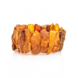 """Bracelet made of natural amber with the natural texture of """"Pompeii"""""""