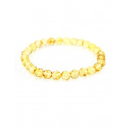"Bracelet natural amber ""Caramel diamond face"""