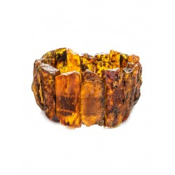 """Bracelet with plates of natural raw amber """"Pompeii"""""""