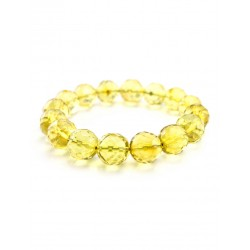 "Bracelet from a single lemon Colombian amber hue ""Shar. Diamond Line """
