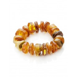"""Bracelet from amber solid with a natural crust in ethnic style """"Indonesia"""""""