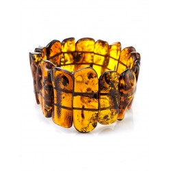"""Bracelet of whole sections of natural amber """"Pompei"""""""