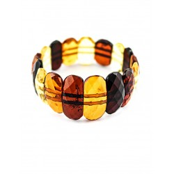 "Amber bracelet ""Faceted flat"""