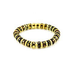 "Amber bracelet ""Washers, Diamond Line"" light"
