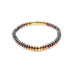 "Amber bracelet ""Caramel with diamond cut"""