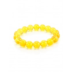 "Bracelet ""Lemon balls"" from the beautiful Baltic amber transparent"