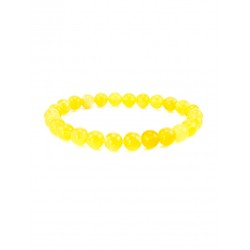 "Bracelet ""Matt balls"" from the Baltic amber lemon"