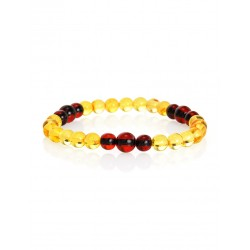 "Bracelet ""Beijing"" from beads, balls natural amber"
