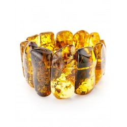 """Bracelet """"Pompeii"""" of natural Baltic amber with inclusions of fossil insect"""