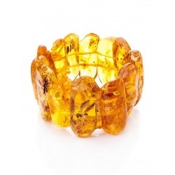 """Bracelet """"Pompeii"""" of natural Baltic amber with inclusions of insects"""