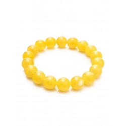 "Bracelet ""ball"" of the round beads, beads of Baltic amber honey"