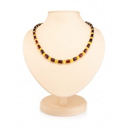 "Beads from natural Baltic amber lemon and cherry colors ""barrel and a ball"""