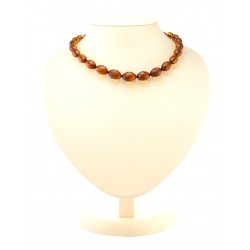 "Beads from natural Baltic amber ""Olives diamond cherry"""