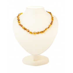 "Beads from natural Baltic amber ""Olives tea"""