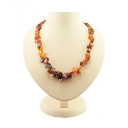 "Beads from natural amber ""Pebbles transparent"""