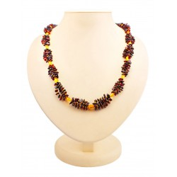 "Beads from natural amber cherry and golden ""Braid"""
