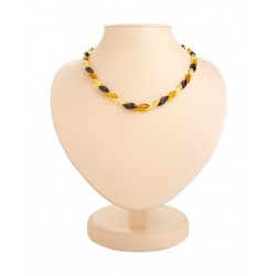 "Beads from natural amber ""Snake three shades"""