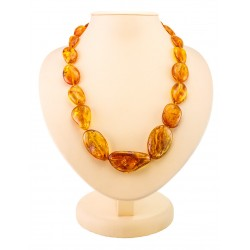 "Beads from natural golden amber ""Olive large"""