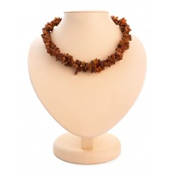 "Beads ""Pigtail"" double weave made of natural amber"