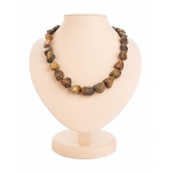 "Beads ""Pompeii"" of natural raw amber with a therapeutic effect"