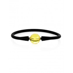 """Black silicone bracelet with amber spacer """"Hawaii"""""""