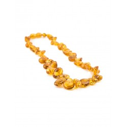 "Baby Beads ""Sea-buckthorn"" from natural amber cognac color for kids"