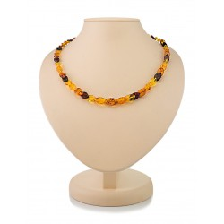 "Beads from natural Baltic amber a few shades ""Snake"""