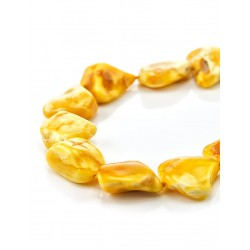 "Beads from natural Baltic amber ""Honey candies"""