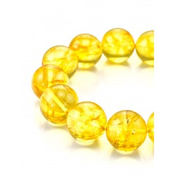 "Volumetric bracelet natural amber lemon-colored ""Jupiter"""