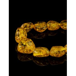"Beads from natural Baltic amber sparkling ""Lollipops lemon"""