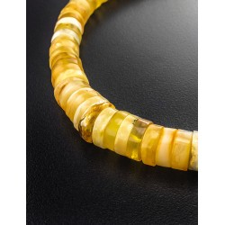 "Beads from natural Baltic amber ""Washers glossy bright"""
