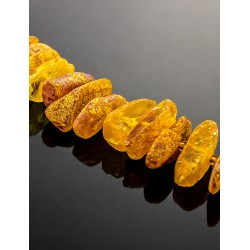"Beads from natural Baltic amber unpolished ""Pebbles wild"""