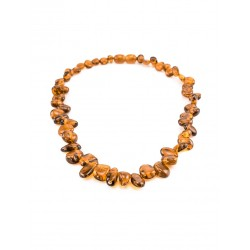 "Beads for kids ""Seabuckthorn"" natural amber cherry color for kids"