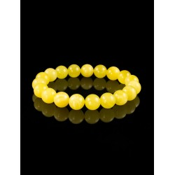 "Neat bracelet ""Balls"" from Baltic amber, honey-colored"