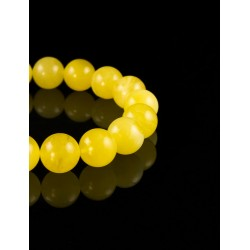 """Bracelet """"balls"""" of beads beads Baltic amber colored landscape"""