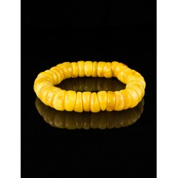 """Bracelet """"cylinder"""" of natural Baltic amber honey with the aging effect"""