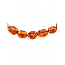 "Beads from natural amber ""Olives Hardened"""