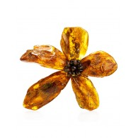 "Beautiful brooch ""Pompeii"" of whole raw amber"
