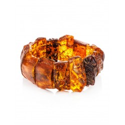 """Beautiful bracelet made of natural solid amber """"Pompeii"""""""